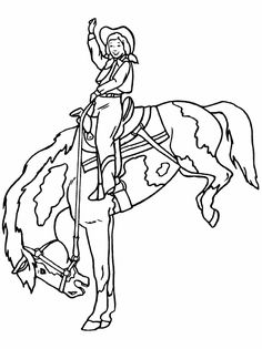 Cowgirl Coloring Pages for B's cowgirl birthday party