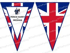 Instant download Royal Wedding bunting Prince Harry Meghan Markle Union Jack A4