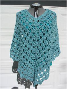 free crochet patterns for plus size ponchos - Google Search