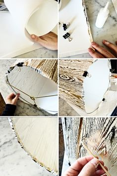 DIY faux bois lampshade // brittanyMakes