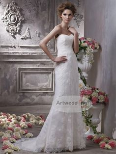 Sweetheart Allover Lace Mermaid Bridal Dress $155.00