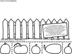Printable: Five Little Pumpkins