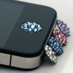Bling Home Button Accessory for iPhone iPhone 4/4s iPhone 5 galaxy s2 galaxy s3 samsung case on Etsy, $4.99