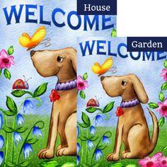 "Sweet Labs Garden Flag Labrador Retriever Dog Buddies Double Sided 12.5/""x18/"""