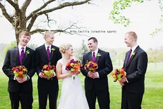 Wonder if my husband would let me do this with him and his groomsmen.. Haha