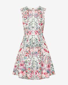 Layered Bouquet skater dress - Cream | Dresses | Ted Baker