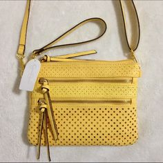 Jessica Simpson Bags Clara Mini Crossbody Buttercup - Handbags