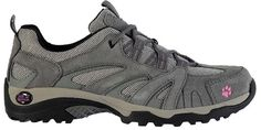 Ladies Jack Wolfskin Vojo Low Hiking Shoes Grey Pink Horte -- Click image for more details.
