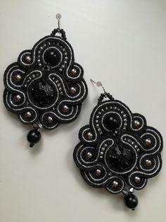 Black soutache earrings