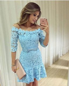 Cute blue dress!