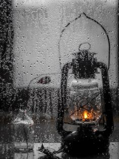 Lantern in the rain