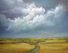 The Wheat Field by Luczay Oil on canvas