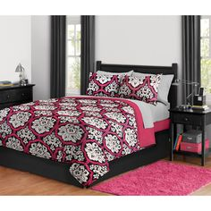 $40 Dotted Damask Bed in a Bag Bedding Set