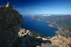 Headlands north of Porto from Capu D'Ortu (1300 m above de Mediterranean), Piana, Corse_ South France