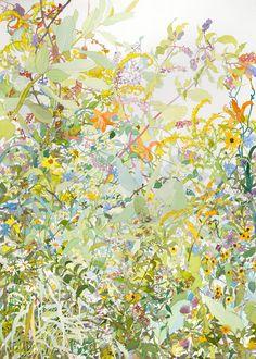 "Summer 2010. Watercolor, 40"" x 30"". 2010."