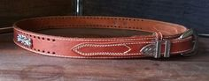 Vintage ROPER Rust Brown Cowhide Leather Western Frontier Ranger Belt Women's 32 #ROPER #Western