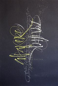 ✍ Sensual Calligraphy Scripts ✍ initials, typography styles and calligraphic art - Espacios by betina naab