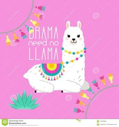 Cute Llama And Alpaca Illustration For Nursery Design Poster Greeting Birthday Card Baby Shower Design And Party Decor Stock Vector - Illustration of abstract cool: 119676683 Alpacas, Baby Llama, Cute Llama, Birthday Card Design, Birthday Cards, Nursery Design, Nursery Art, Llama Drawing, Llama Decor