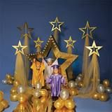 Let your little grads shine on their big day with this Shining Stars Complete Theme. It includes 1 - Gold Star Arch Kit 1 - Tall Shining Star Stands Kit (set of 1 - Short Shining Star Stands Kit (set of 1 - Super Star Pathway and Balloons Kit. 5th Grade Graduation, Graduation Theme, Kindergarten Graduation, Graduation Decorations, School Decorations, Balloon Decorations, Christmas Decorations, Bulletins, Star Party