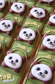 panda in bamboo cookies♡