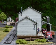Back side of the freight house from Kit 1 (HO scale). $149.99