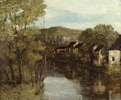 Gustave Courbet | The Reflection of Ornans | Musée-Maison Natale Gustave Courbet, Ornans, France.