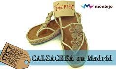 Sandalias realizadas por una alumna que vino desde Tenerife al curso CalzaCrea de Madrid