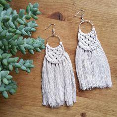 Boho Macrame Earrings