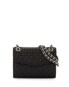 REBECCA MINKOFF Quilted Mini Leather Shoulder Bag, Black. #rebeccaminkoff #bags #shoulder bags #leather #