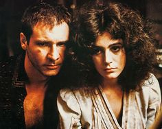 "Harrison Ford y Sean Young en ""Blade Runner"", 1982"