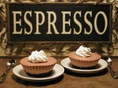 Espresso Cheese (Cup)cakes - adapted from Little Cafe Cakes by Julie Le Clerc. Dessert Decoration, Cake Shop, Cup Cakes, Espresso, Cheese, Desserts, Food, Espresso Coffee, Tailgate Desserts
