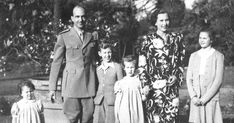 King Umberto II and Queen Maria Jose of Italy with T. Princess Beatrice, Princess Maria Gabriella and Princess. Princess Beatrice, Maria Jose, Royalty, Italy, King, Queen, Fashion, Royals, Moda