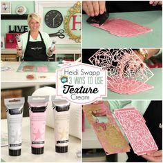 Join Heidi Swapp as she shares three ways to use your texture paste. Learn her techniques for Making Pretty Things.