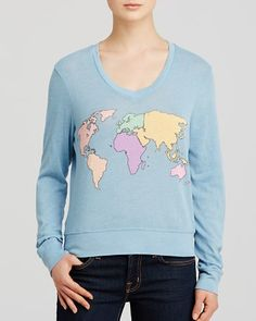 WILDFOX Sweatshirt - Map Print Women - Contemporary - Bloomingdale s a9606a37b