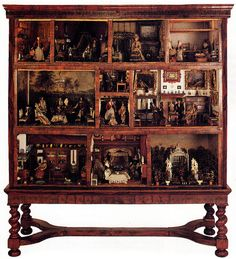 Petronella de la Court's Dutch Cabinet, wonderful old dollhouse cabinet.  .....Rick Maccione-Dollhouse Builder www.dollhousemansions.com