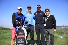 At Torrey Pines with Ian Poulter
