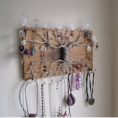 Tree of Life Jewelry Display made with by PurpleBusStudio on Etsy, $175.00