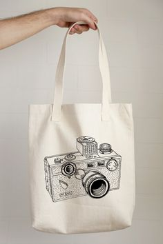Argus Camera Drawing Tote Bag