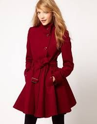 Fit and flare coat - neat on the top and flared to skim the hips. Gorgeous.