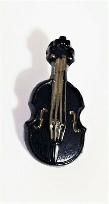Vintage Navy Blue Realistic Glass Violin - Musical