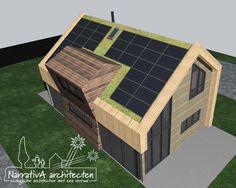 PV-cellen icv sedumdak-energieplus huis Sedum Roof, Urban Planning, Mood Boards, Projects, Villa, Houses, Log Projects, Homes, Blue Prints