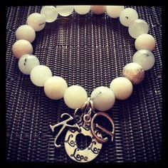 Custom Love Initials bracelet. $18