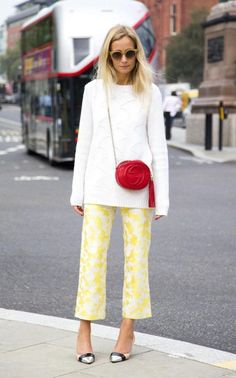 How to wear yellow, and add a dash of red! | Martha Ward