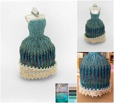 """Mystical Ocean Ball Gown Miniature Bead Dress by pinkythepink on DeviantArt ---------da""""Perline""""diⓛⓤⓐⓝⓐ"""