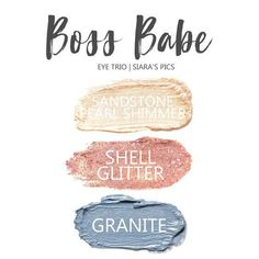 Boss Babe Eye Trio uses three SeneGence ShadowSense : LE Shell Shimmer, Sandstone Pearl Shimmer & Granite Shimmer. These creme to powder eyeshadows will last ALL DAY on your eye. #shadowsense #trio #shadowsensetrio #eyeshadow #cocoa