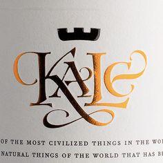 Kale Wines by Jordan Jelev, via Behance
