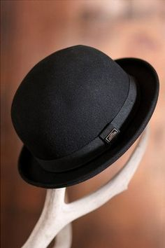 Crushable Wool Derby Bowler Hat! $39.00  www.coolcoolhats.com  #hats #caps #fashion #bowler #beanies