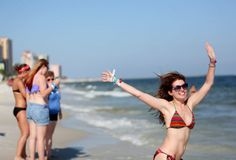 Swimming at #HangoutFest! This was the first year festival-goers were allowed in the Gulf #GulfShores