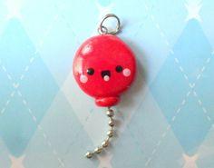 Kawaii Charm Red Balloon Cute Charm Kawaii Polymer Clay Jewelry
