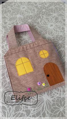 Мастерская Elifçe: Сумка дом для куклы /Bag doll-house